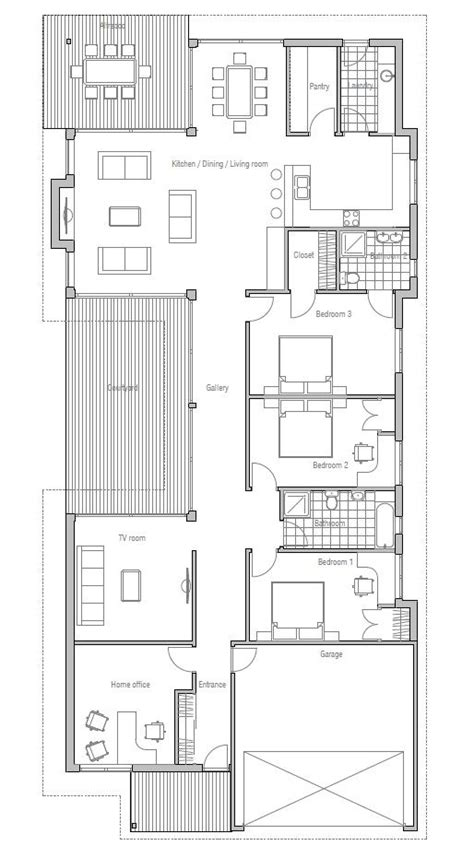 narrow terraced house design modern house to deep and narrow lot australian influences three bedrooms covered