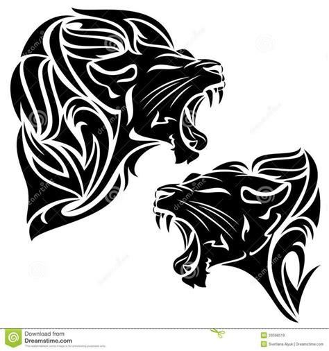 roaring lion tribal tattoo tribal roaring drawing tribal dave