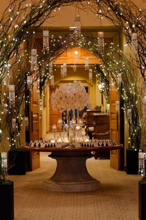 Room Decoration For Wedding With Lights 25 Best Ideas About Lighted Branches On Green