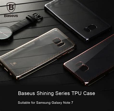 Baseus Shinning Ultra Thin Electroplating Transpar Promo baseus baseus shining series ultra slim soft clear panel electroplate plating tpu cover for