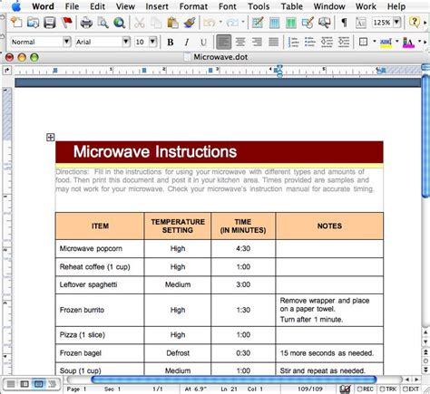 microsoft excel table templates macdevcenter