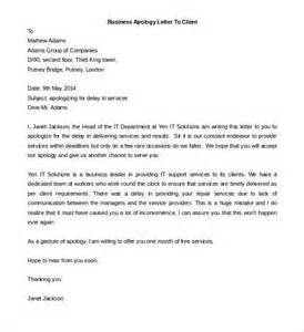 Business Letters With Errors Business Apology Letter To Client Letter Of Recommendation