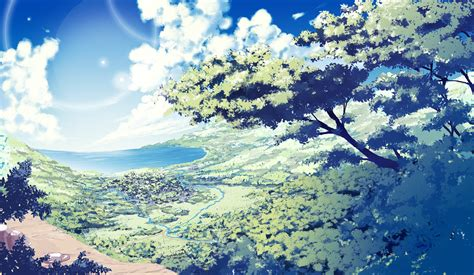 wallpaper hd anime landscape nature anime scenery background wallpaper resources