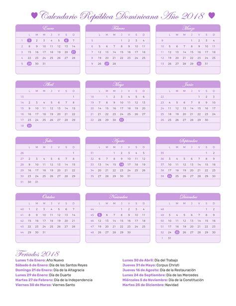Calendario 2018 Republica Dominicana Calendario Rep 250 Blica Dominicana A 241 O 2018 Feriados