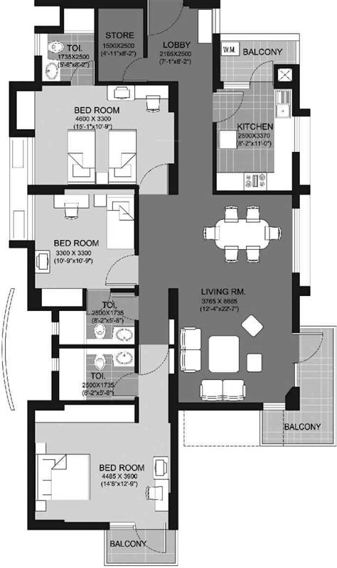 escape floor plan unitech escape in sector 50 gurgaon price location map floor plan reviews proptiger