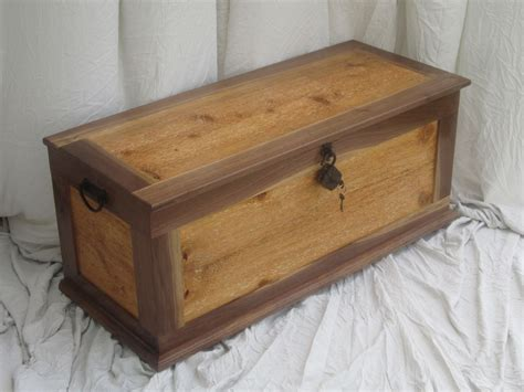 Handmade Trunk - made sea chest blanket trunk by bearkat wood