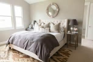 tufted headboard transitional bedroom