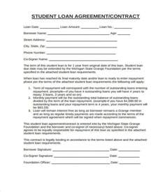 Rehabilitation Agreement Letter Student Loan 10 Student Contract Templates Free Word Pdf Format