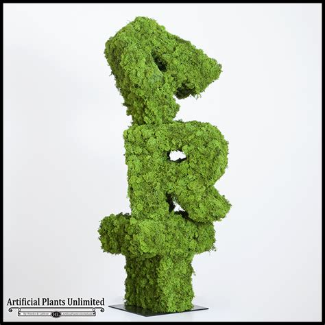 topiary letters lichen moss custom topiary letters artificial plants