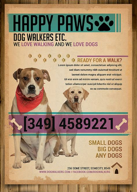 Dog Walking Flyer Template 14 Free Psd Vector Ai Eps Format Download Free Premium Templates Walking Business Flyer Template