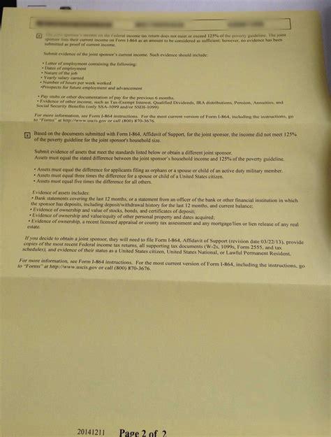 Support Letter For Fiance Visa I864 Affidavit Of Support Cover Letter