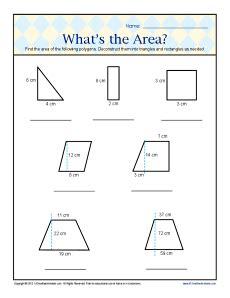 area worksheets 6th grade davezan