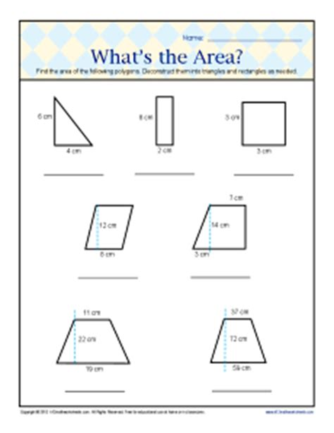 printable area worksheets 6th grade what s the area 6th grade geometry worksheets
