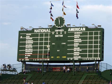 Fields Of Green Original Board wrigley field s scoreboard