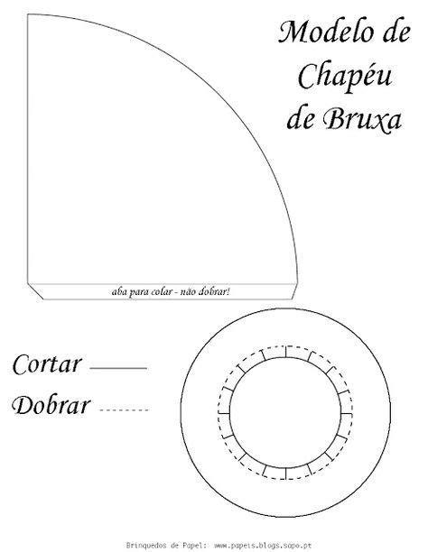 Molde chapéu de bruxa - Rosearts- Atividades para imprimir