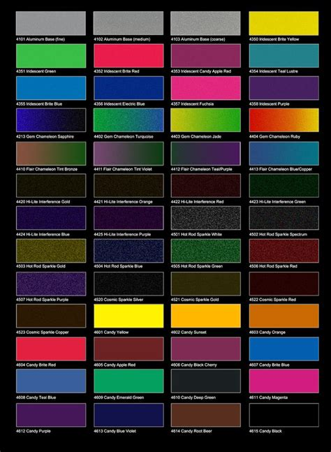 paint colors for car 12 best images about car paint charts on cars