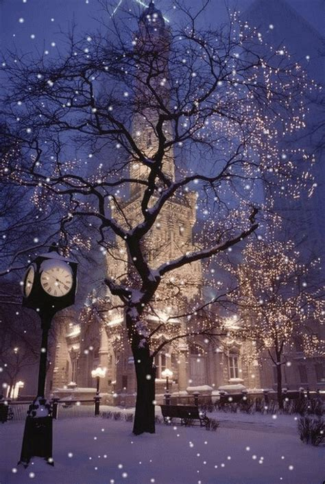 Beautiful Light Falling Snow Pictures Photos And Images Snow Falling Lights