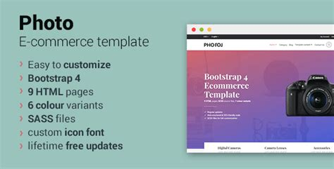Bootstrap 4 Ecommerce Template Photo Bootstrap 4 Ecommerce Template Download Nulled Themes