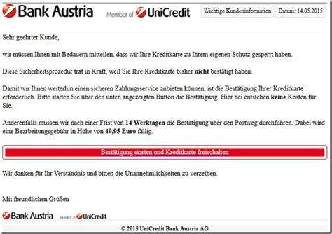 www bank austria at bank austria phishing wir haben ihre kreditkarte zu