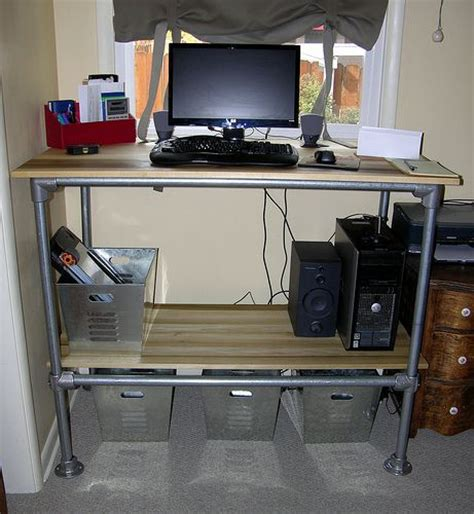 standing desk with storage 1000 images about diy tall desk ideas on pinterest