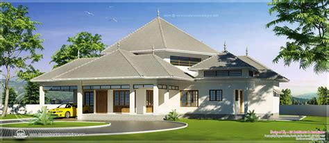 Kerala style modern roof house in 2600 sq.feet Kerala home design and floor plans