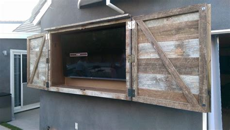 diy outdoor tv cabinet outdoor tv cabinet open ideal guide before install