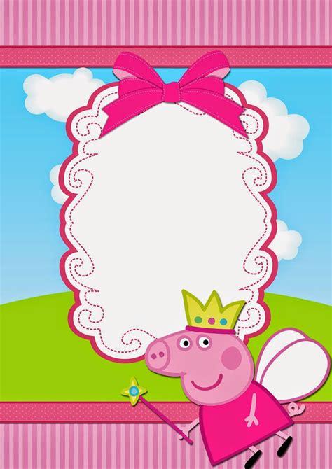 Peppa Pig Fairy Free Printable Invitations Cami 3 Pinterest Free Printable Invitations Peppa Pig Template