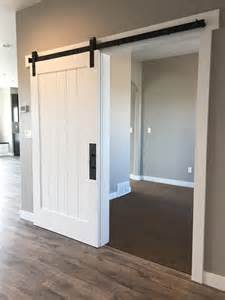 white sliding barn door white barn door for the entry closet http www