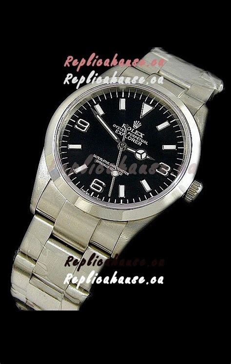 rolex explorer series swiss replica steel shipping from canada for just 499 usd