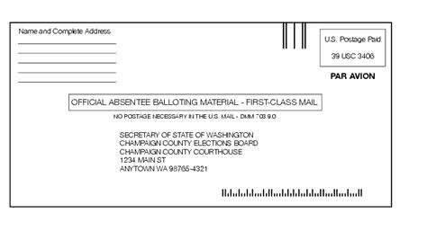 letter address format usps shows the format for balloting material envelope