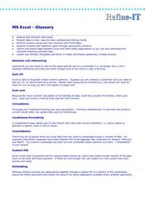 glossary template glossary template excel