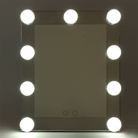 Kaca Mulut Led Mirror With Led professional led touch screen lighted vanity mirror standing table mirrors large salon cosmetic