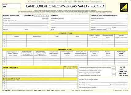 Homeowner Records Landlords Cp12 Certificates
