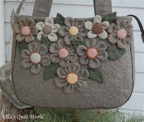 Patchwork Flowers - ulla s quilt world patchwork bag flowers