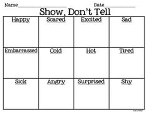 Show Don T Tell Worksheet by Show Don T Tell Activity Homeschool Grammar And Literacy
