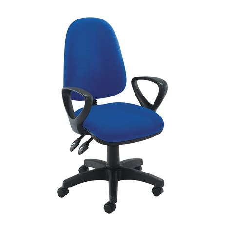 offi bench makki sons 187 office chair with arms blue w8 3110