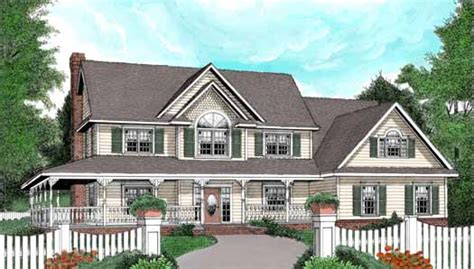 two story house plans with wrap around porch wrap around porch style house plans 2579 square foot
