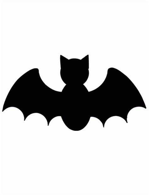 pumpkin cutout templates bat free printable coloring