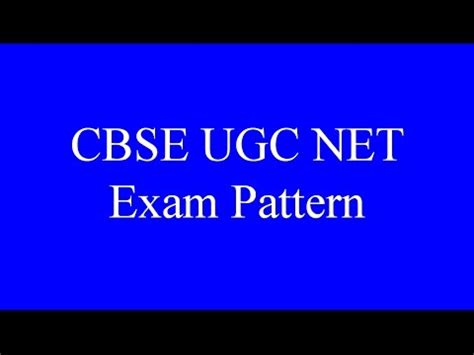 pattern of net exam for commerce cbse ugc net exam pattern youtube