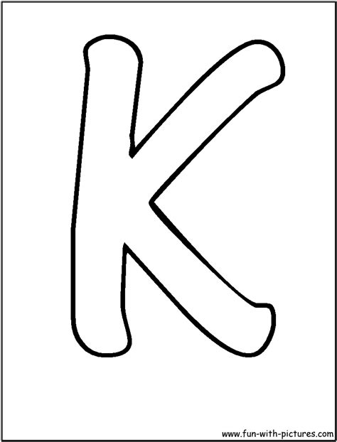Free Coloring Pages Of Big Letter K K Coloring Page