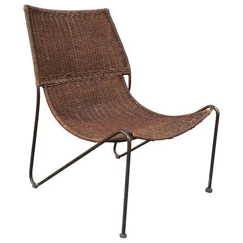 iron chairs for sale woven rattan and wrought iron slipper lounge chair for