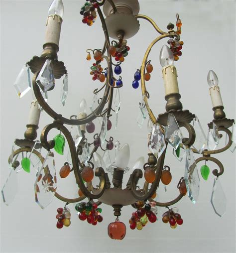 Murano Glass Fruit Chandelier Vintage Antique Italian Murano Glass Fruit And Chandelier