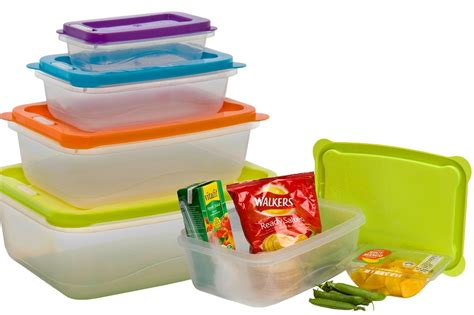 Lunch Storage Containers Clear Plastic Food Lunch Boxes Nested Storage Stacking