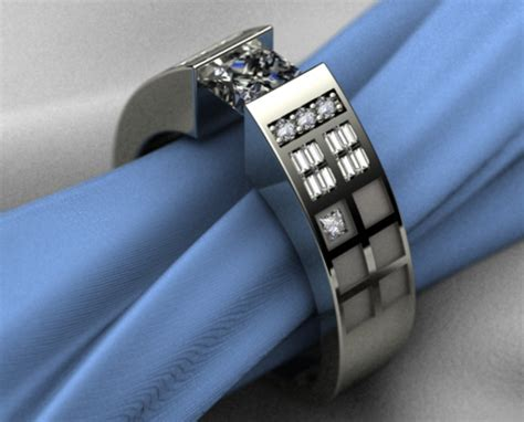dr who tardis themed engagement ring geekologie