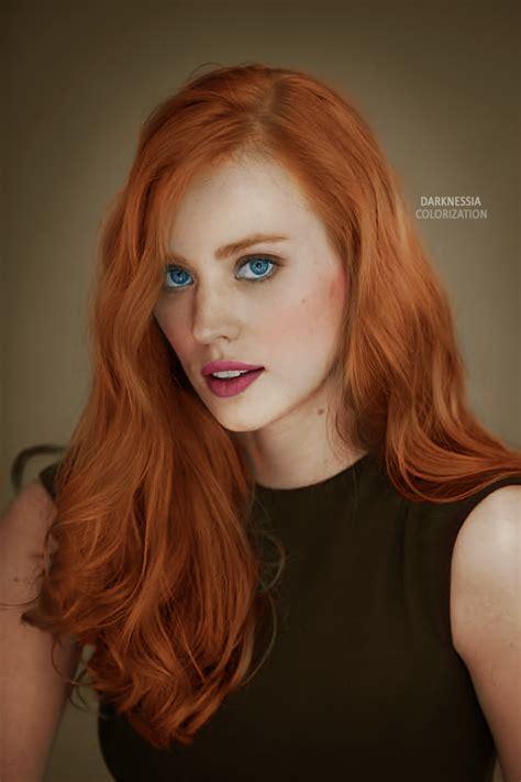 red hair vigina image colorization deborah ann woll by cinderellaswan