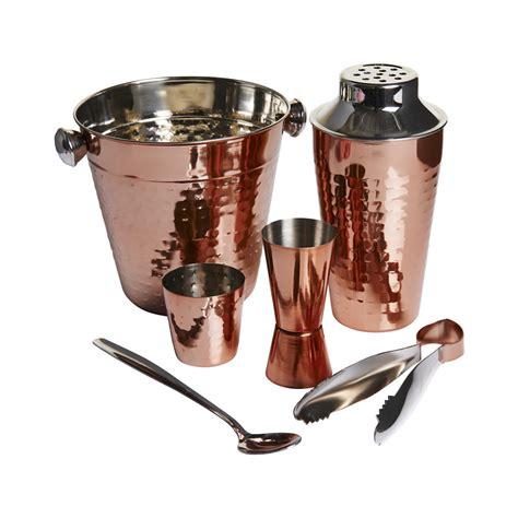 Barware Set by Wilko Barware Set Copper Effect Wilko