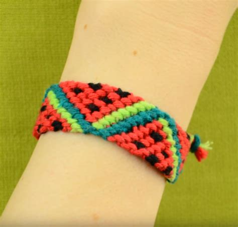 Watermelon Friendship Bracelet   AllFreeJewelryMaking.com