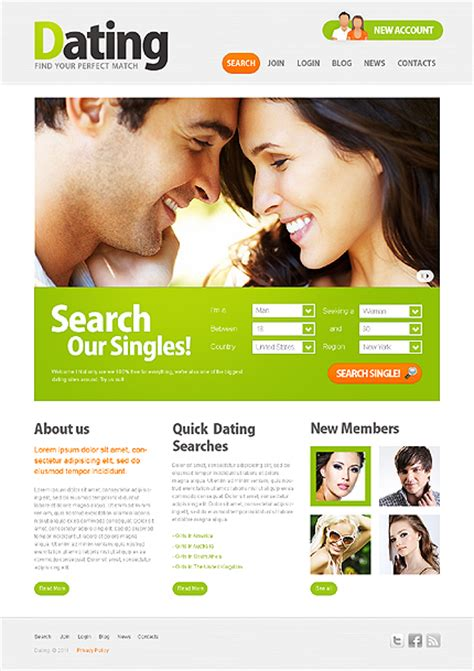 joomla dating template images