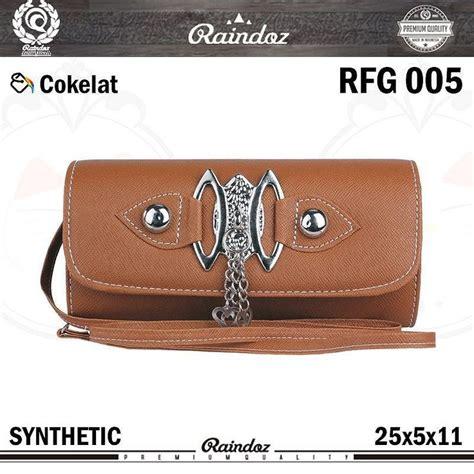 tas kecil wanita dompet clutch raindoz rfg 005 warna cokelat bahan synthetic ukuran