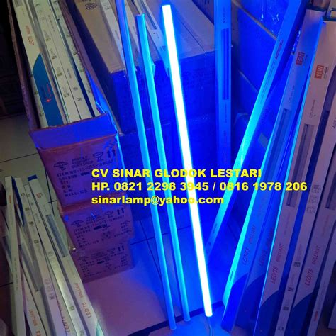 Led Warna Biru lu t5 led slim warna biru